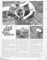The Food Stamp Act Of 1977 Included A Provision To Allow Purchase Seeds Grow Foods